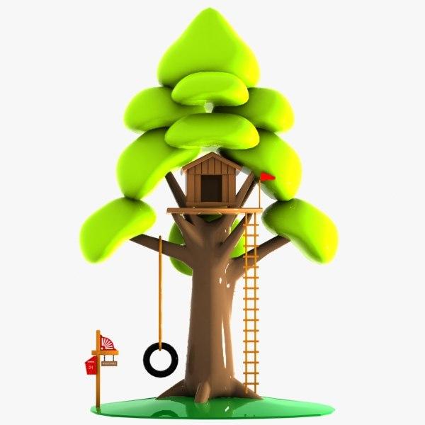 cartoon tree house 3ds