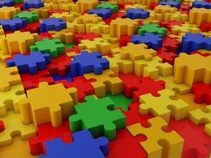 3d model tile color puzzle