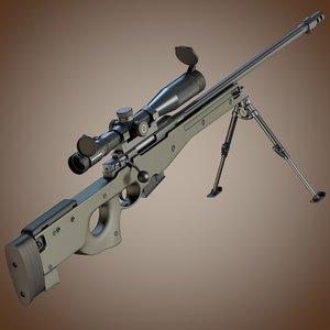 accuracy international l96a1 sniper rifle c4d