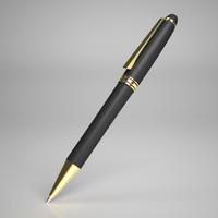 pen gold details 3d model