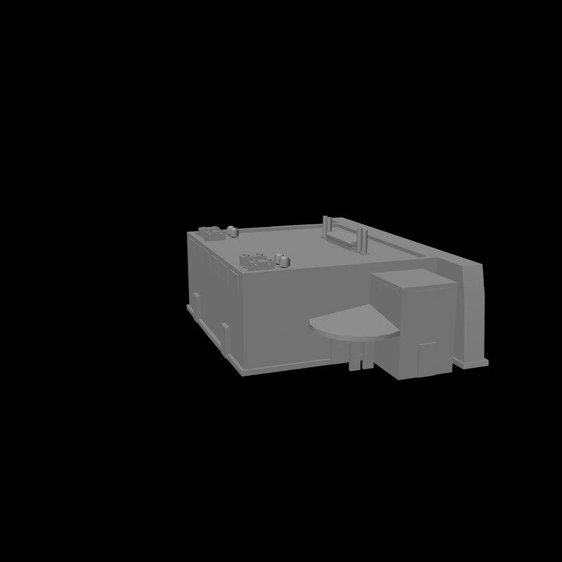 free plane hanger 3d model