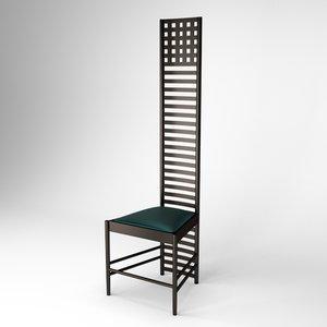 3d hill house chair charles