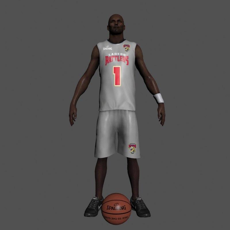3dsmax basketball player