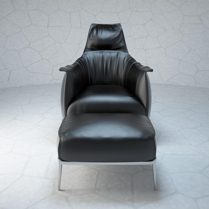 3d model archibald armchair