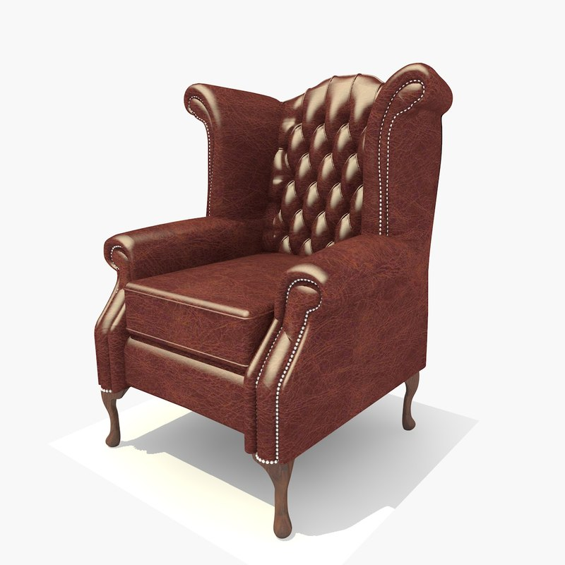 3d seater dark leather scroll