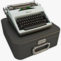 Vintage Typewriter Olympia 1964 Set