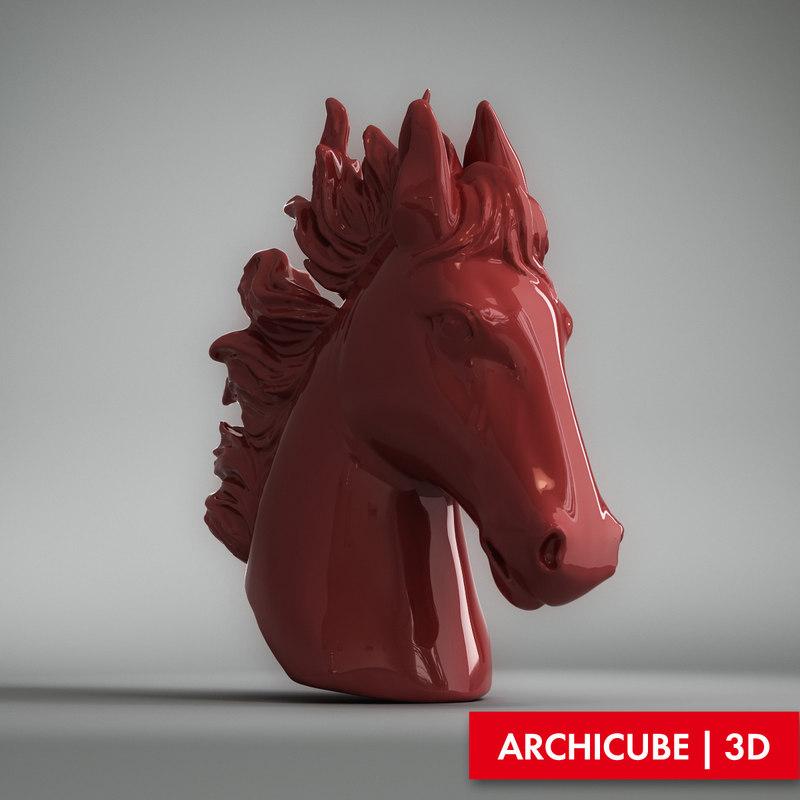 head horse 3d model