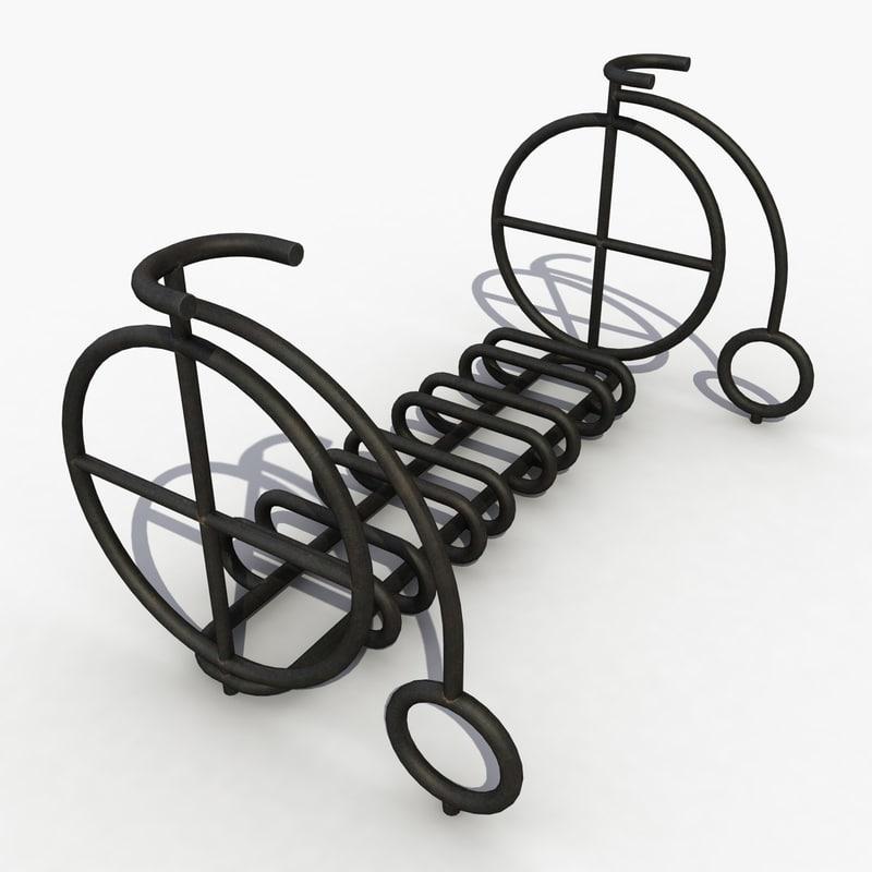 3d park bicycle model