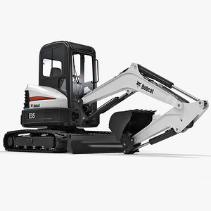 excavator bobcat e35 3d model