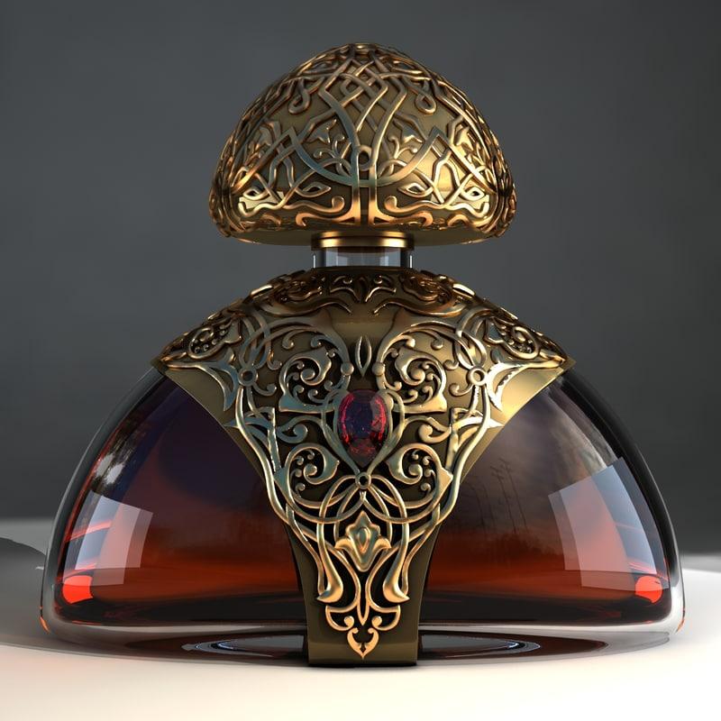 cognac bottle 3d model