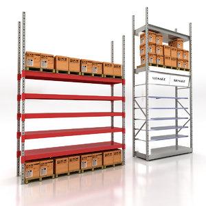 wholesale shelving 3d 3ds