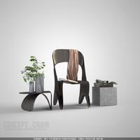 3d max modern chair