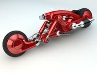 detonator motorcycle concept 3d c4d