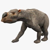 3d model diprotodon pose 1