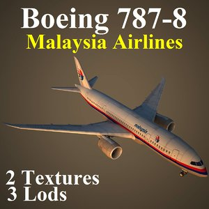 boeing malaysia airlines mas 3d max