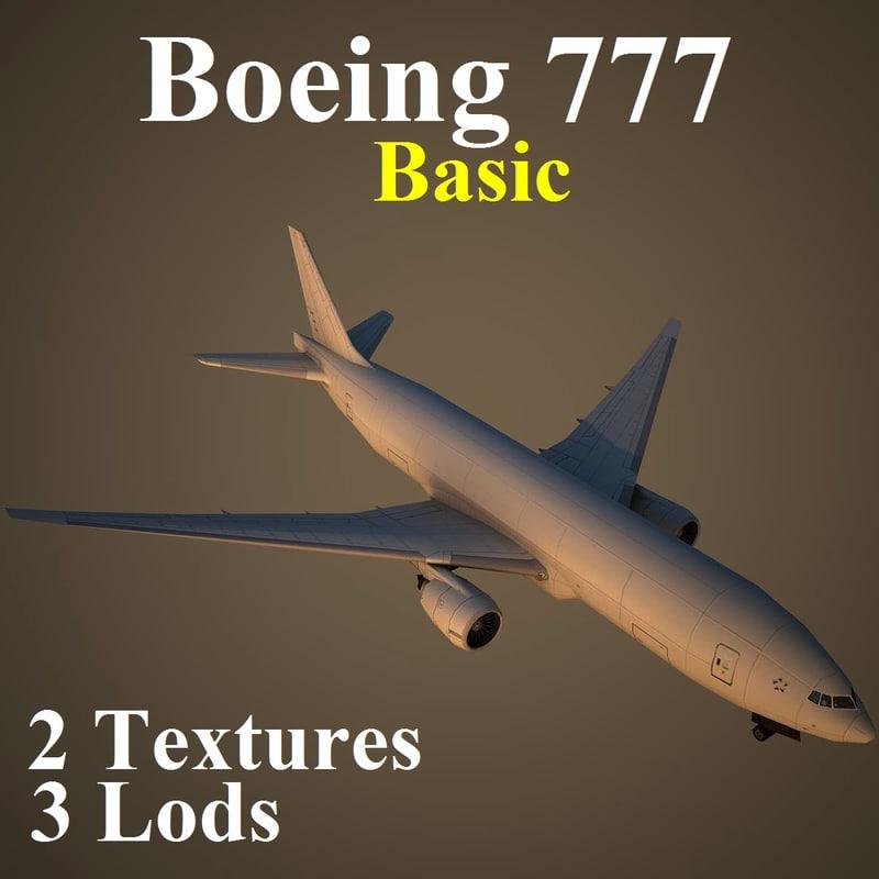boeing 777 basic 3d model