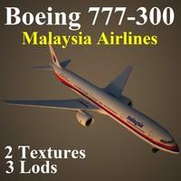 3d model boeing 777-300 mas