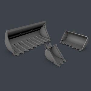 free c4d mode lego technic truck shovels