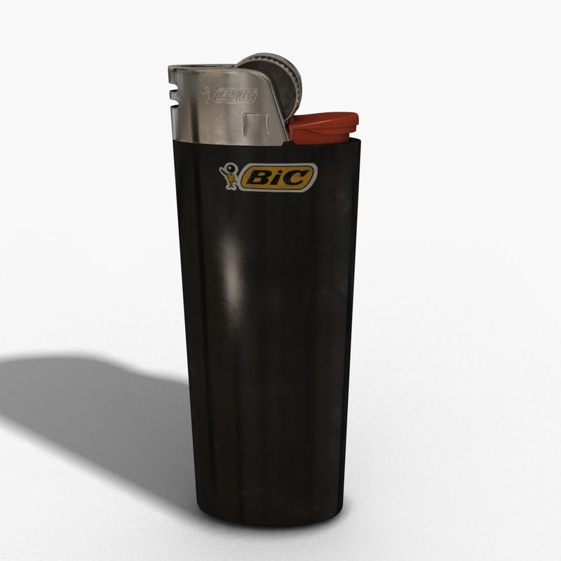 bic lighter 3d max