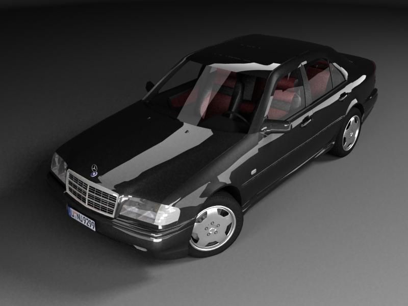 3d mercedes-benz c 43 amg model