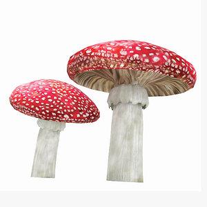 3d mushrooms
