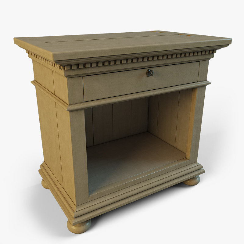 3ds max st james open nightstand