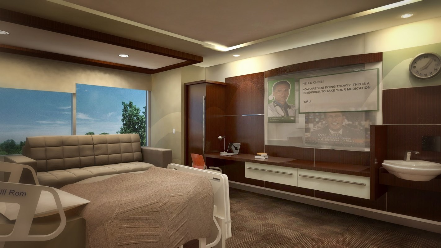 3d model 350 patient room design for 3d model room design