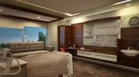 3d model 350 patient room design