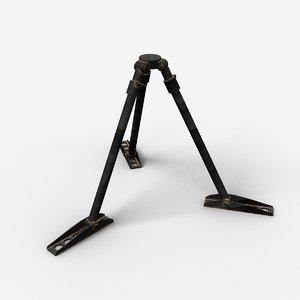 tripod machine gun 3d lwo