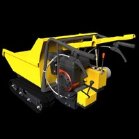 3d model motorized barrow