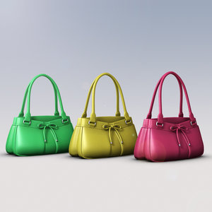 ladies hand bag 3d model