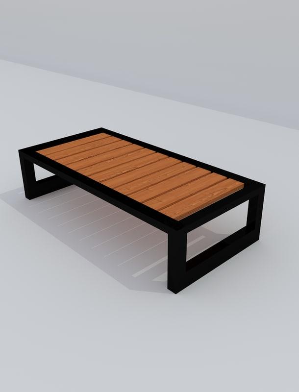wood bench blend