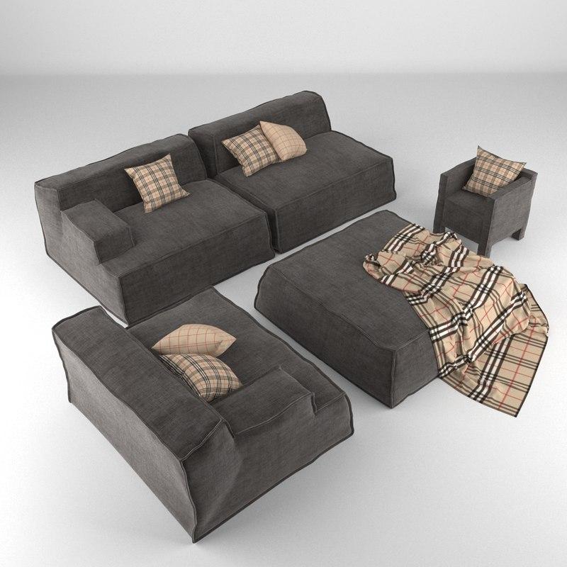 3d model lounge furniture
