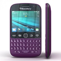 3d blackberry 9720 samoa purple model