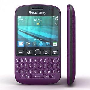3d blackberry 9720 samoa purple model