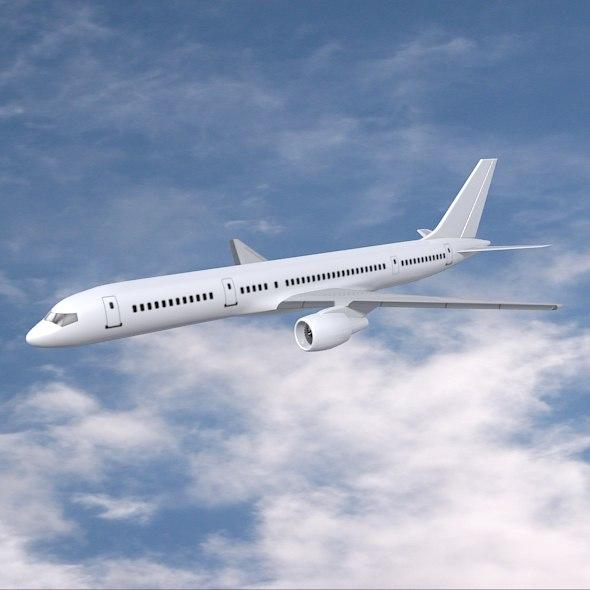 3ds max airplane boeing plane