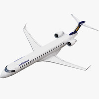 3d bombardier airplane