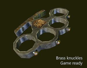brass knucles 3d model