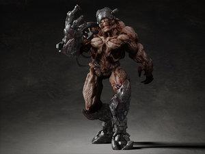 creature cyber 3d model