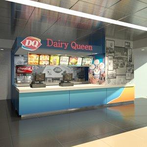 3d dairy queen