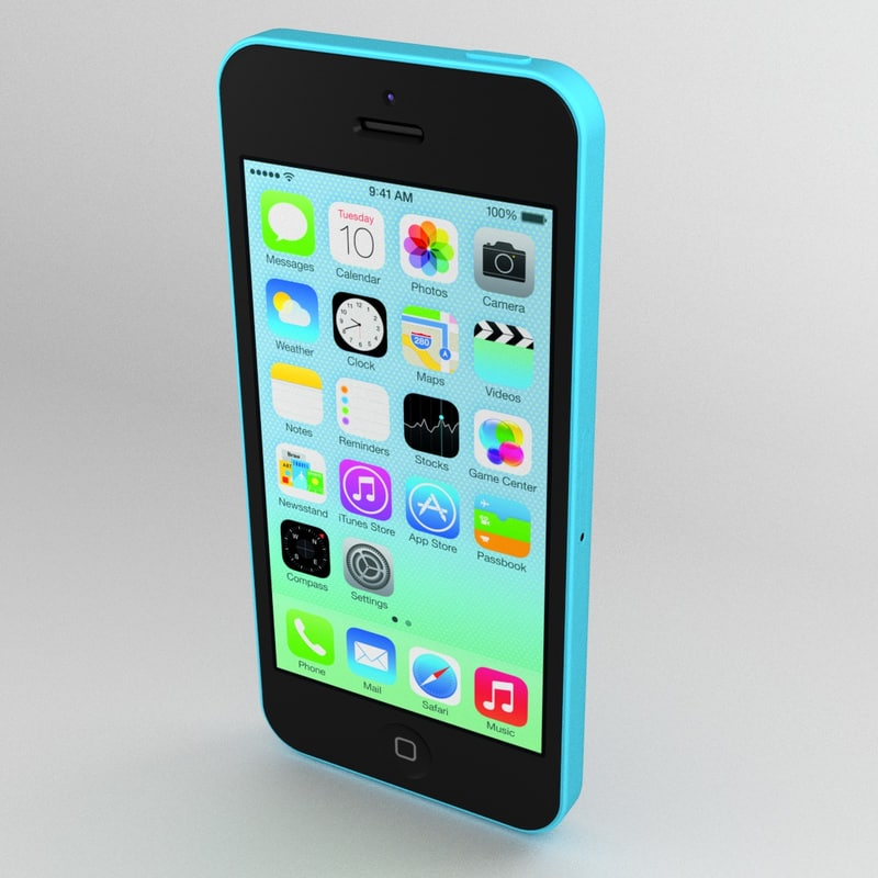 iphone 5c apple 3d model
