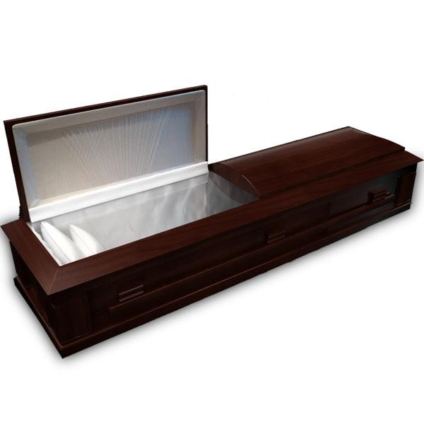 3d coffin wood model