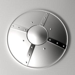 3ds medieval buckler shield