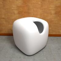 3d model vase design cubic