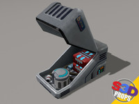 Sci-fi White Crate