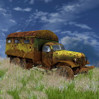 old rusty zil- 3d model