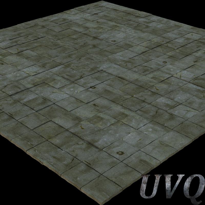stone pavement obj