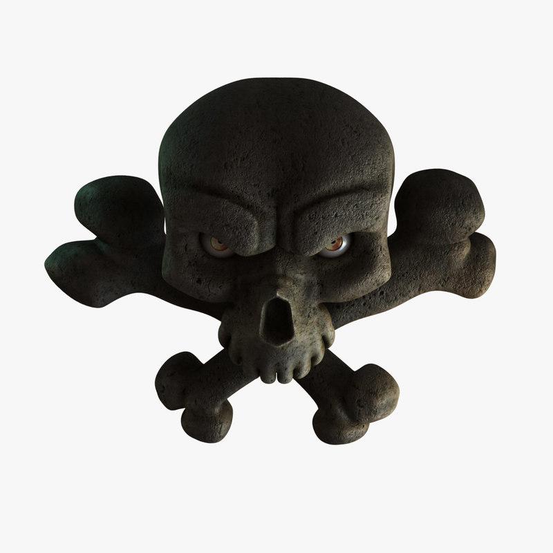 pirate skull 3d obj