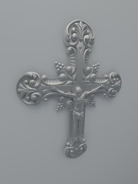 3d model jesus cross