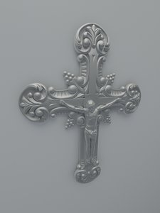 3d model jesus cross